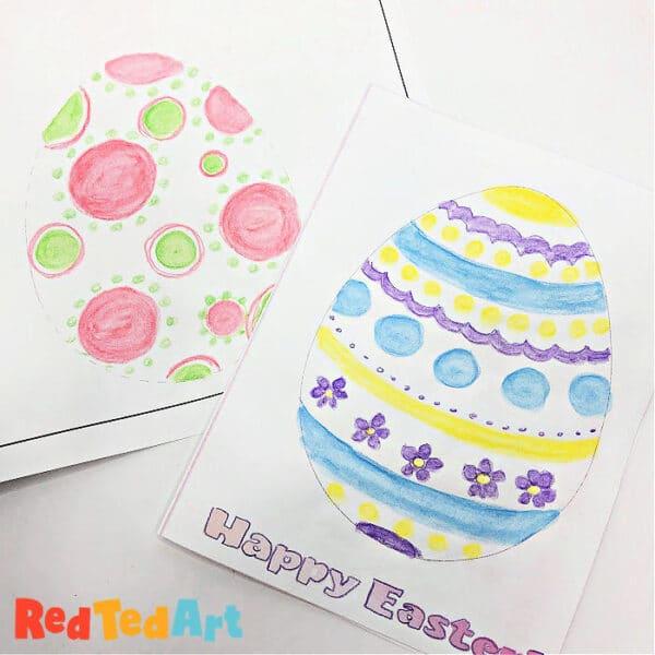 Plain egg coloring pages