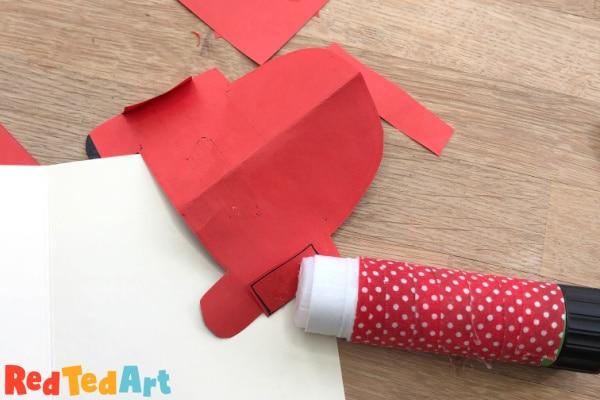 make the pop up card folds