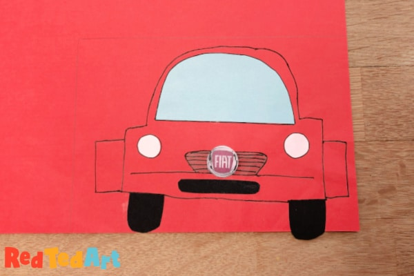 outline and draw your fiat car