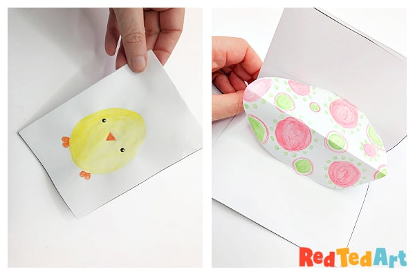 finisged pop up egg card
