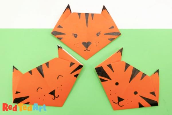 Origami Tigers