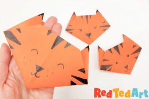 finished origami tiger