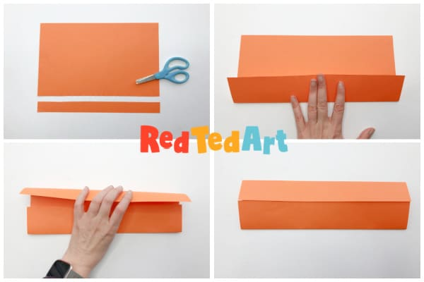 fold puppet length ways