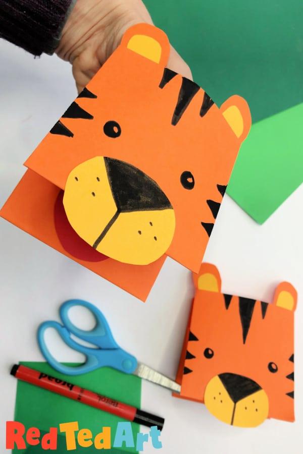 Paper Tiger Puppet Craft