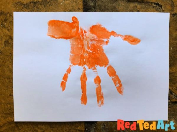 Handprint Tiger