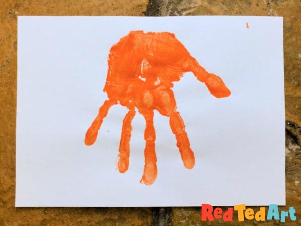 Simple Handprint Tiger