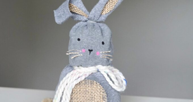 decorate the sock bunny