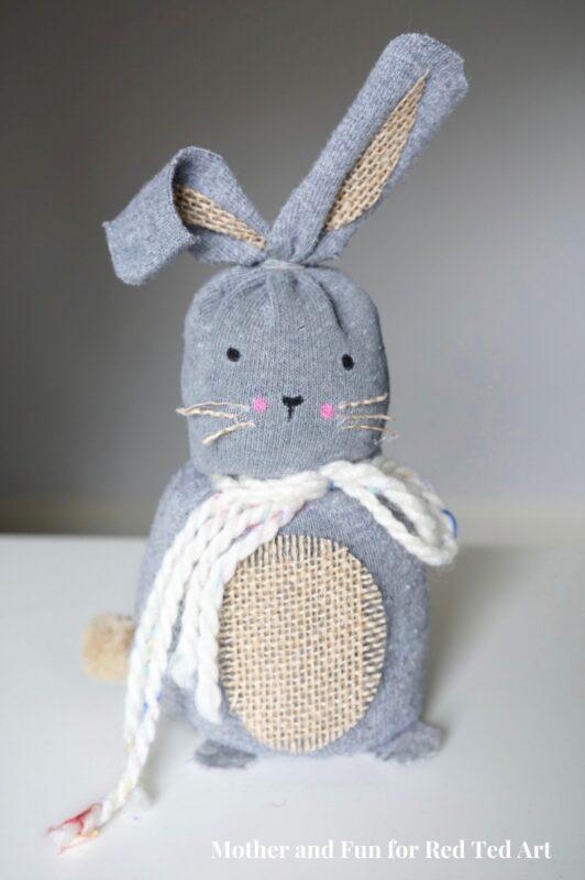 Easy no sew sock bunny