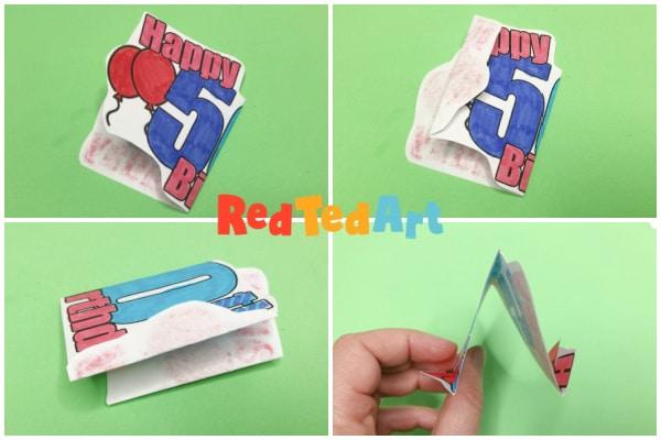 Fold your W pop up shape