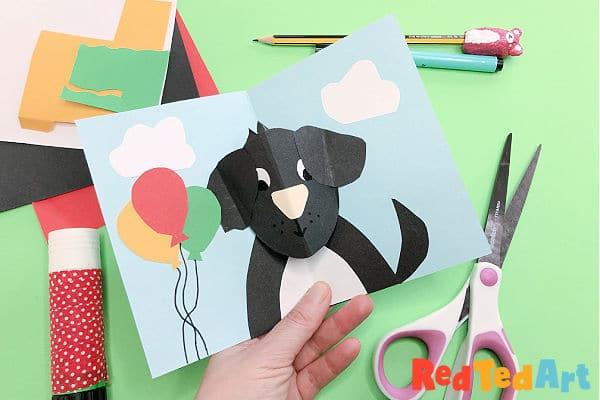 Easy Pop Up Dog Card