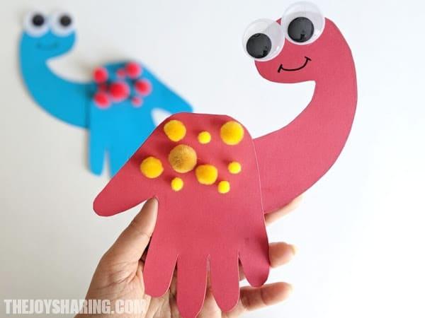 Handprint Dino Cards
