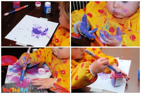 painting with little ones