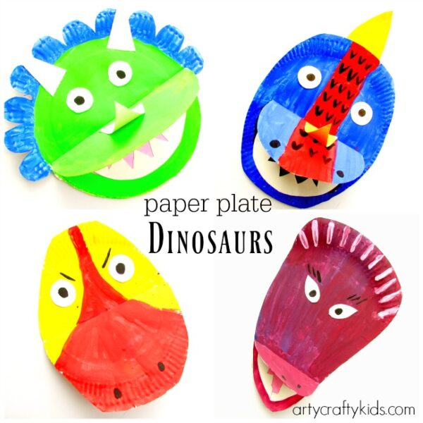 Paper Plate Dinosaurs