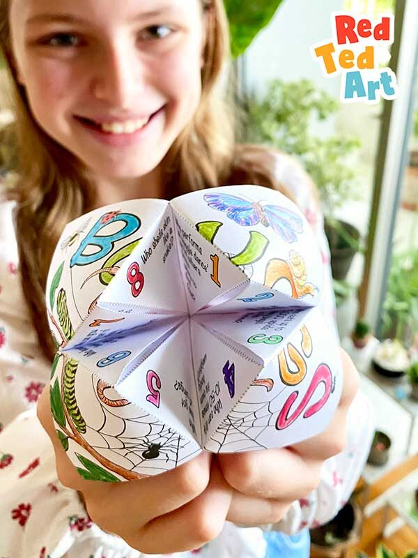 Bug Facts Fortune Tellers