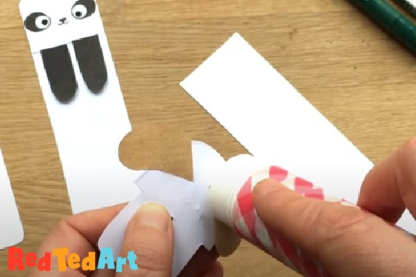 Cut out the dog shape and stick the head