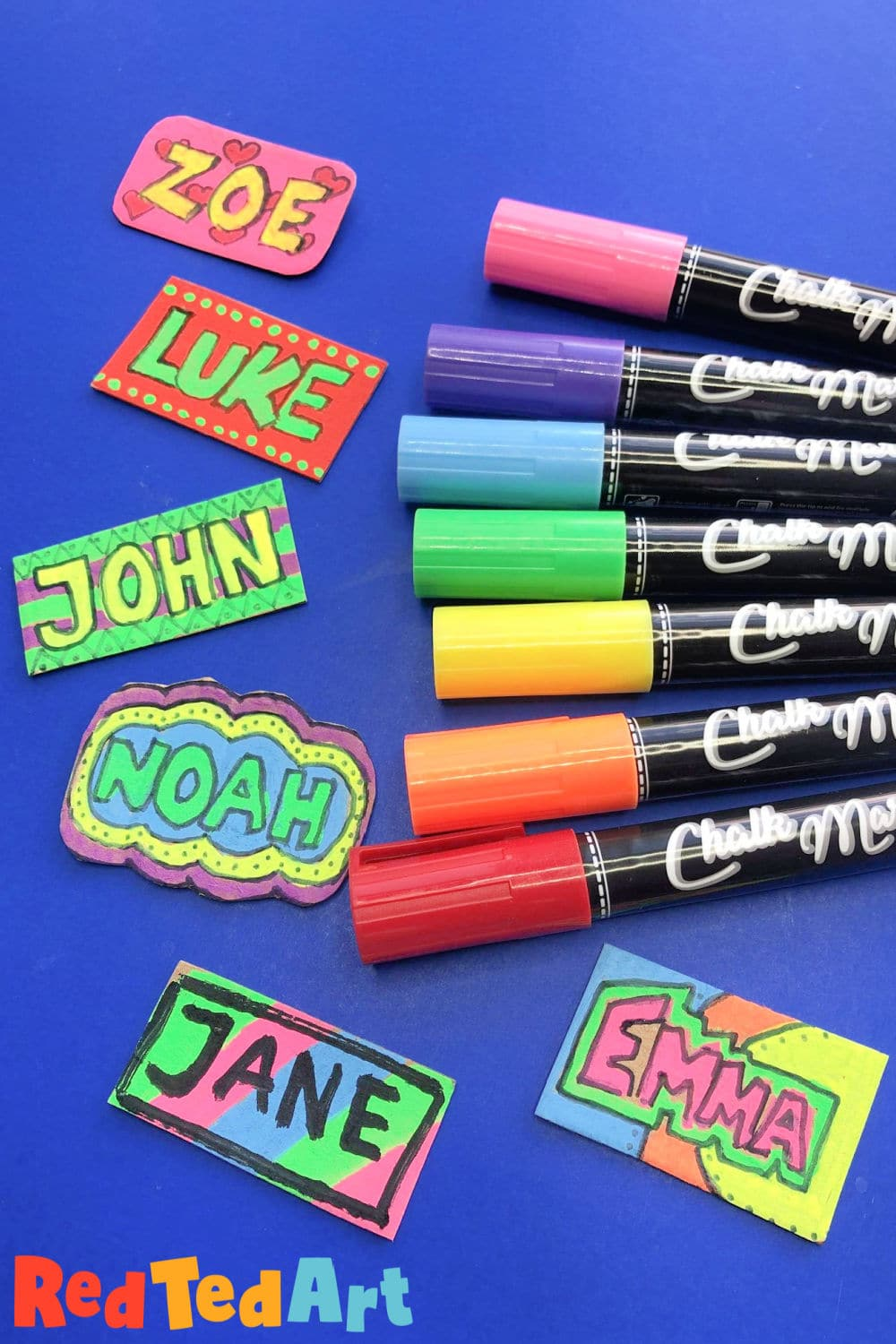 Colourful Name Tags for Back to School