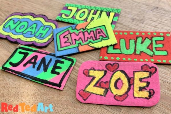 Colorful Name Tag DIY