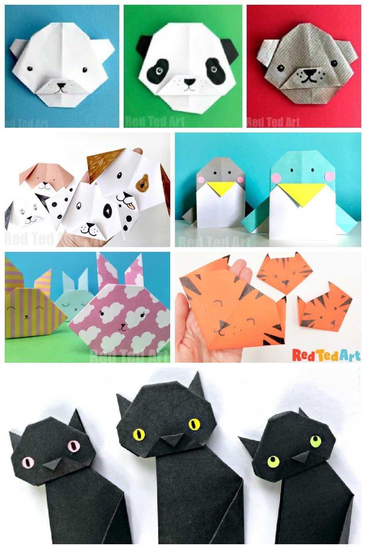 animal origami faces